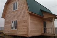 Отделка фасада панельного дома из бруса