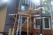 Утепление фасадов домов из каркаса и отделка дома цокольный сайдинг пристройка котельной  с12/08 ,220