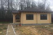 Электромонтажные работы - одноэтажный дом из клеёного бруса.