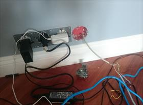 Подключение ЛВС розетки для роутера и телевизора