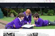 Сайт компании по организации обучения за рубежом