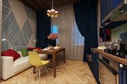 Визуализация кухни-гостиной для Даниила