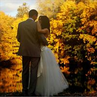 Осенняя фотосессия свадьбы