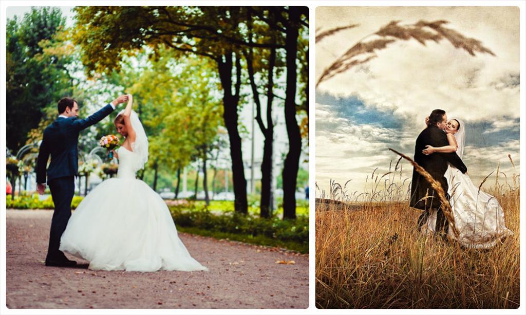 свадебные фотографии осенью идеи