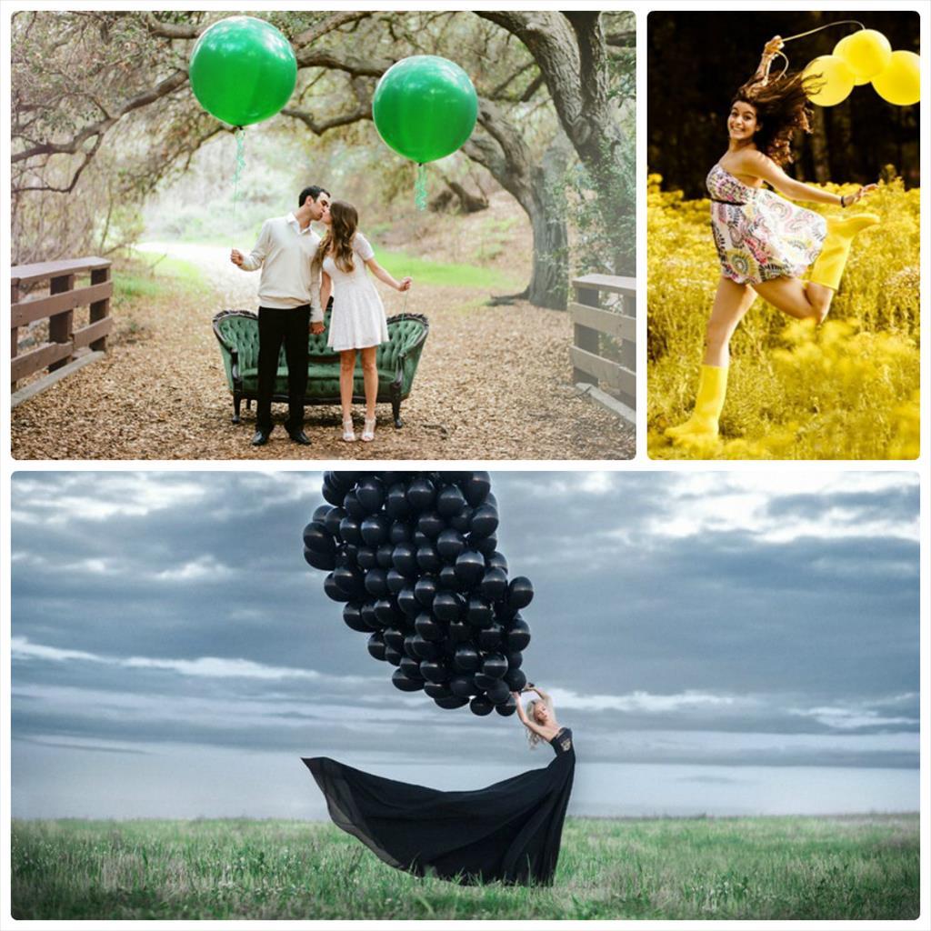 детская фотосессия с воздушными шарами