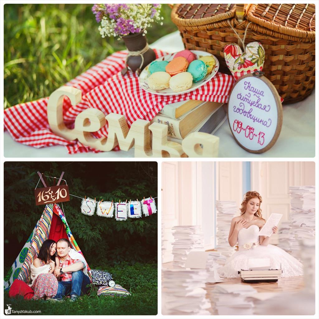 ситцевая свадьба идеи для фотосессии