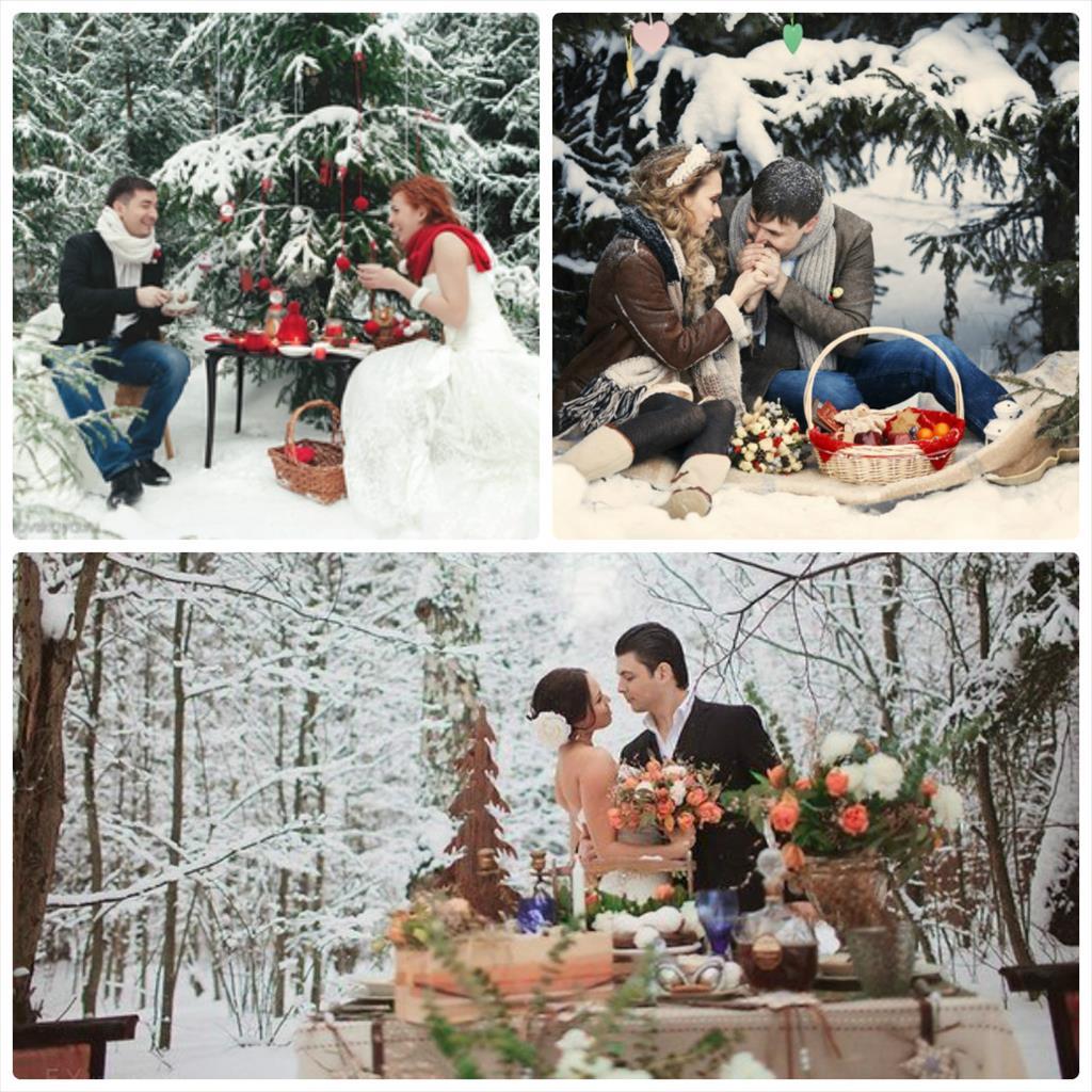 зимняя фотосессия влюбленных на улице