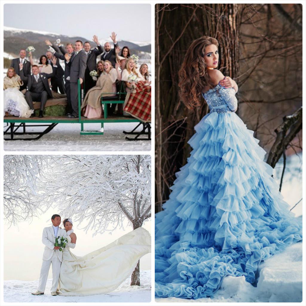 свадебная фотосессия зимой на улице идеи