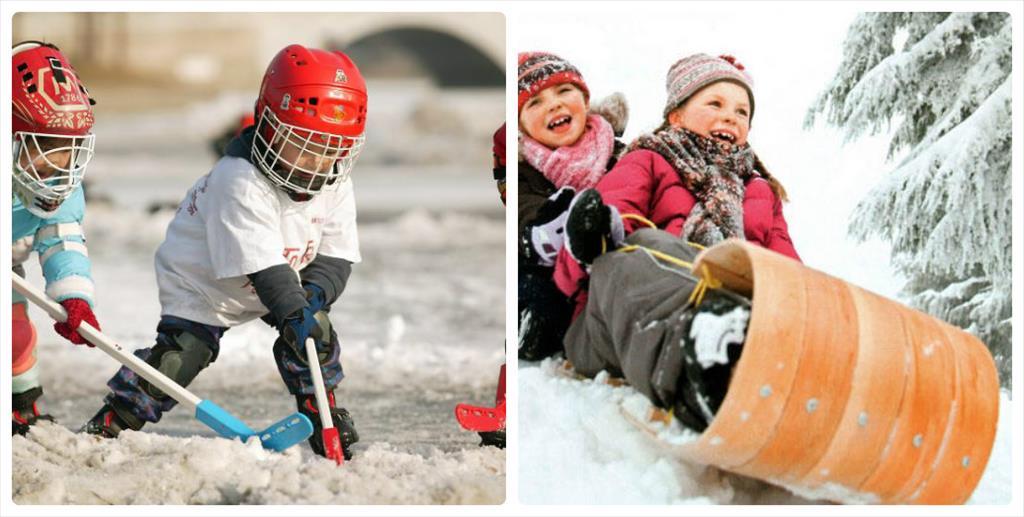 фотосессия зима дети