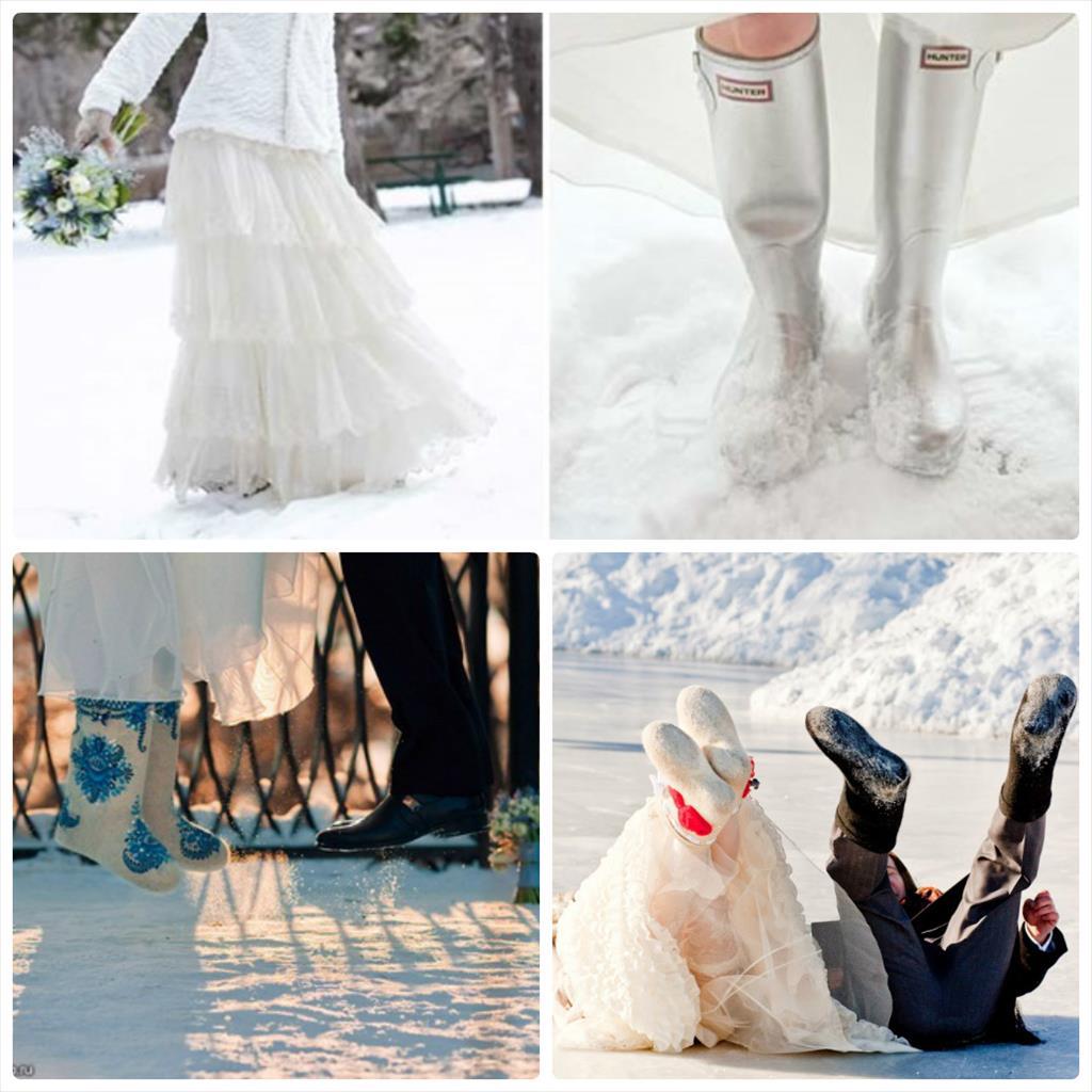 идеи свадебной фотосессии зимой фото