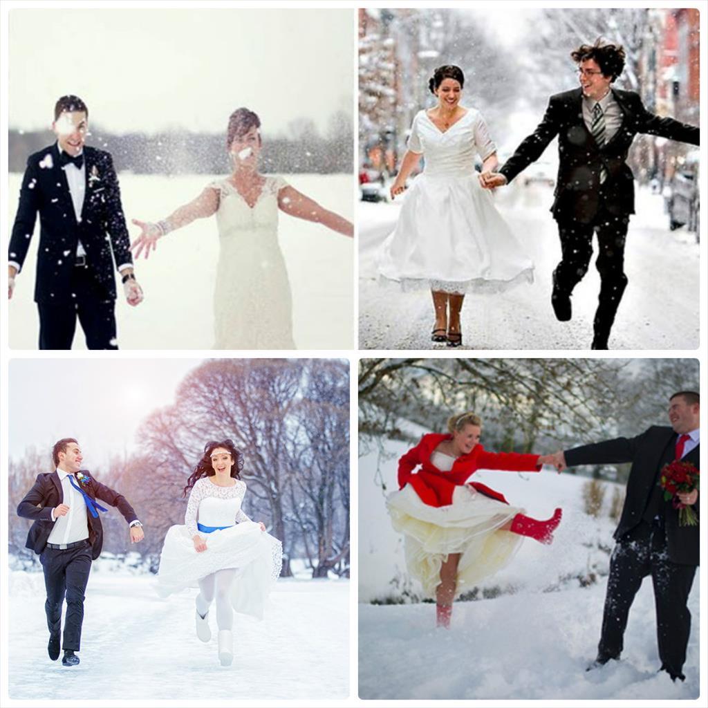свадебные фотографии зимой фото